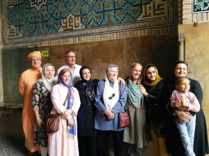 Group at the Imam Mosque - with new friends