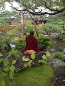 Meditation in a Japanese Garden