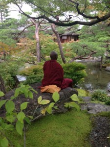 Meditation in a Japanese Garden